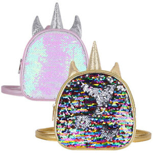 half off save up to 80% classic shoes Details about Unicorn Mini Backpack Shoulder School Bag Sequins Shiny Fancy  Accs for Kid Girls