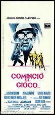COMINCIO' PER GIOCO LOCANDINA CINEMA ANTHONY QUINN DUNAWAY 1968 PLAYBILL POSTER