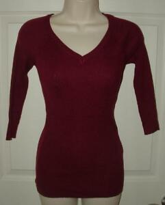 62a77dacb75 Details about NEW NWT Berry Jr Large 7   9 Casual or Dress Stretchy 3 4  Sleeve V-Neck Sweater