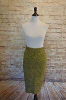 Modcloth Cozy Symposium Skirt Sweater Pencil Xl Green Nick & Mo $70 Chevron
