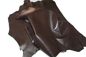 Italian Goatskin leather hide hides skin skins WASHED BLACK SHINY #9500 7+sqf