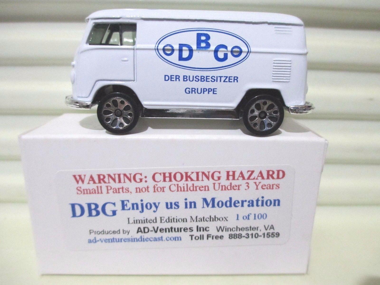 Matchbox limited Edition 2003 DBG DER BUSBESITZER GRUPPE VW VOLKSWAGEN Van NuBxd