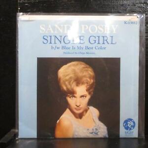 Sandy-Posey-Single-Girl-Blue-Is-My-Best-Color-Mint-7-034-Vinyl-45-MGM-K13612