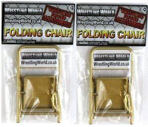2 X Pliable or Ringside chaises Accessoire pour Wrestling figures WWE TNA  </span>