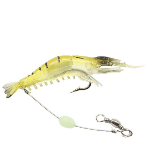 AU/_ 9cm Mini Fishing Artificial Lifelike Soft Lure Wobbler Shrimp Shaped Swim Ba