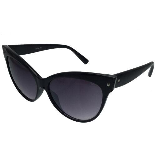 Women/'s Cat Eye Sunglasses Retro Classic Designer Vintage Fashion Shades Black