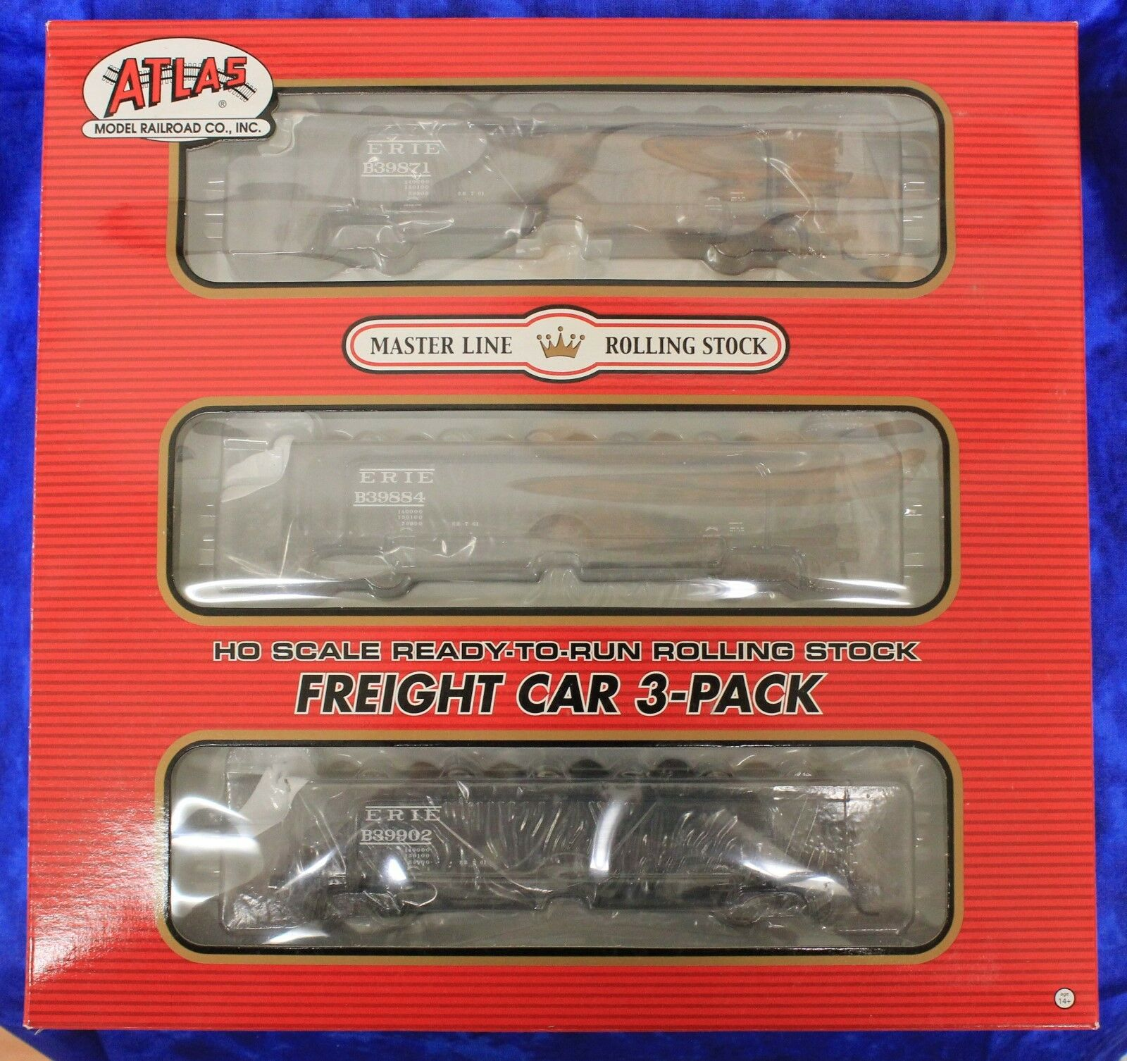 Ho Atlas 20 004 571 Erie Lackawanna (post - 1960) 70-Ton Hart lastre Car 3-Pack