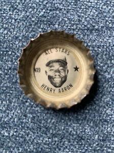 1967 1968 Coke Coca-Cola Baseball All-Stars Bottle Cap Hank Aaron Braves HOF N19
