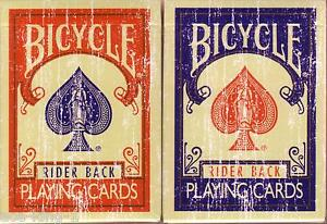 2-decks-Bicycle-LIMITED-red-blue-FADED-playing-cards