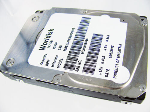 "Fujitsu MBE2147RC 147GB 15K RPM 2.5/"" SAS Internal Hard Drive MBS2147SA000600E"