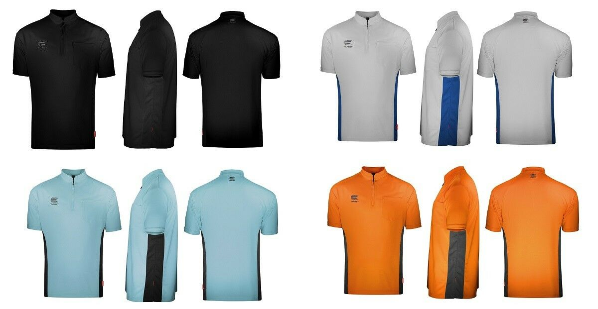 Target Cool Play Collarless Dart Shirts - Breathable - Choose Colour and Size