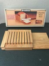 Breadman Collapsible Wooden Bread Slicer Cutting Guide Salton Maxim With Box
