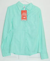 The North Face Cool Horizon Button Down Shirt Women's Large Beach Glass Green