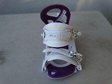 LEFT FOOT ONLY Millennium Three snowboard binding women white & purple Luna s/m