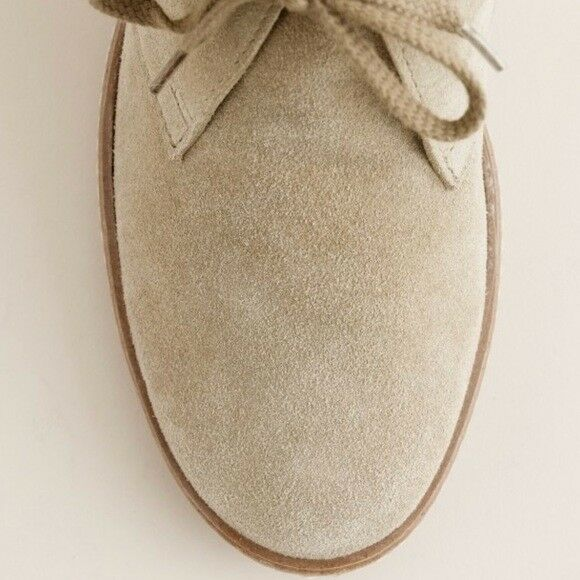NEW J. Wedge Crew Woman's McAllister Beige Suede Wedge J. Stiefel - 7 e09af6