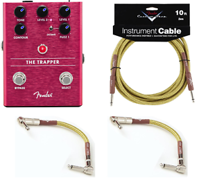 New Fender The Trapper Dual Fuzz Guitar Effects Pedal. Free Fender Cables