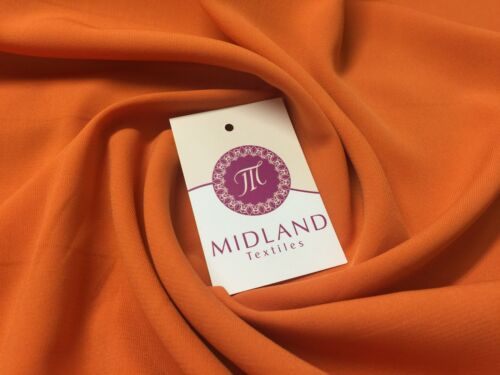 Soft and Lightweight Peach Crepe Dressmaking Fabric ideal for Bridal M510 Mtex