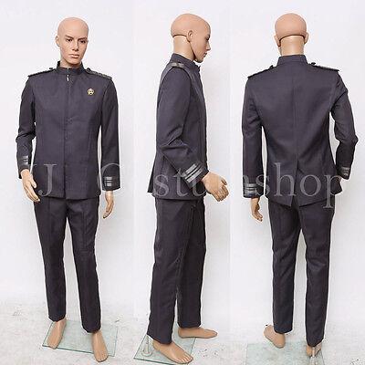 Star Trek Into Darkness Captain Kirk Spock Grey Uniform Costume <Custom Made>