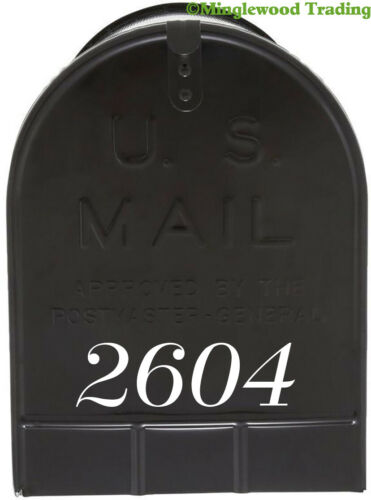 "Vinyl Die Cut Decals 19 Style Choices 2 Sets of 1/"" Custom Mailbox Numbers"
