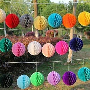 5x-Paper-Honeycomb-Ball-Pompom-Lantern-Hanging-Garland-Wedding-Party-Home-Decor