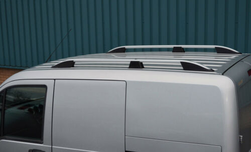 Aluminium Roof Rack Rails Side Bars Set To Fit LWB Ford Transit Connect 02-12