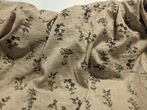 Light-Brown-Seersucker-Hummingbird-Cotton-Lawn-Fabric-Print-57-034-Wide-Fabric