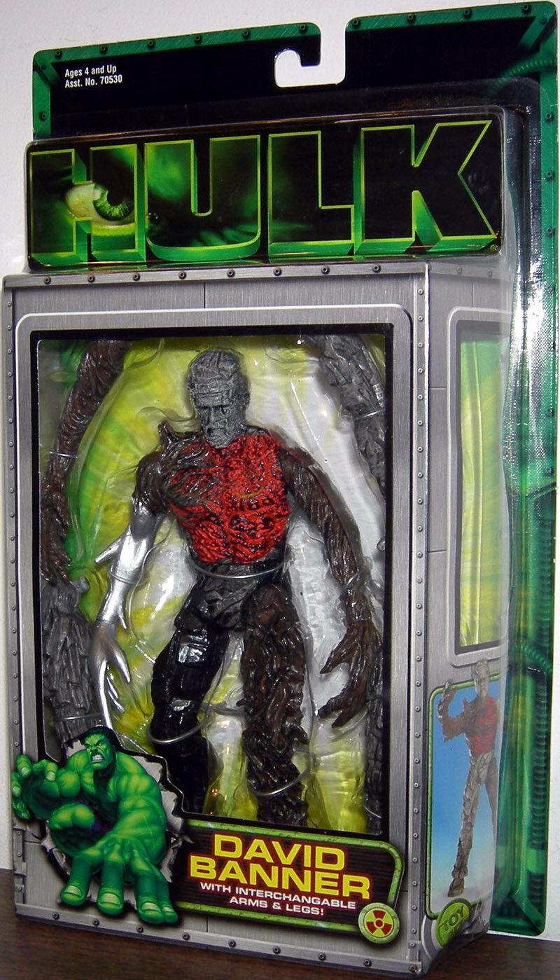 Hulk The Motion Picture David Banner Marvel Action Figure ToyBiz NIB 2003 Movie