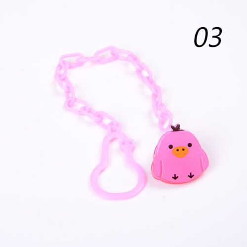 Cartoon Baby Dummy Pacifier Soother Nipple Chain Clip Buckle Dummy Holder EF