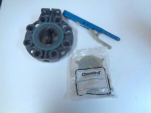NIBCO-CHEMTROL-W45BG-E-3-3-034-LEVER-HANDLE-BUTTERFLY-VALVE-NOS-FREE-SHIPPING