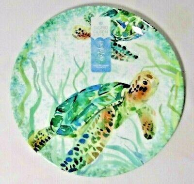 Coastal Home Sea Life Starfish Salad Plate One Size Blue//green