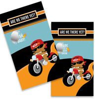 Motorcycle African American Baby Boy - Baby Shower Scratch Off Game Pack