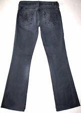7 FAM For All Mankind Women's Black Factory Faded A Pocket Jeans Size 25 X 30.5