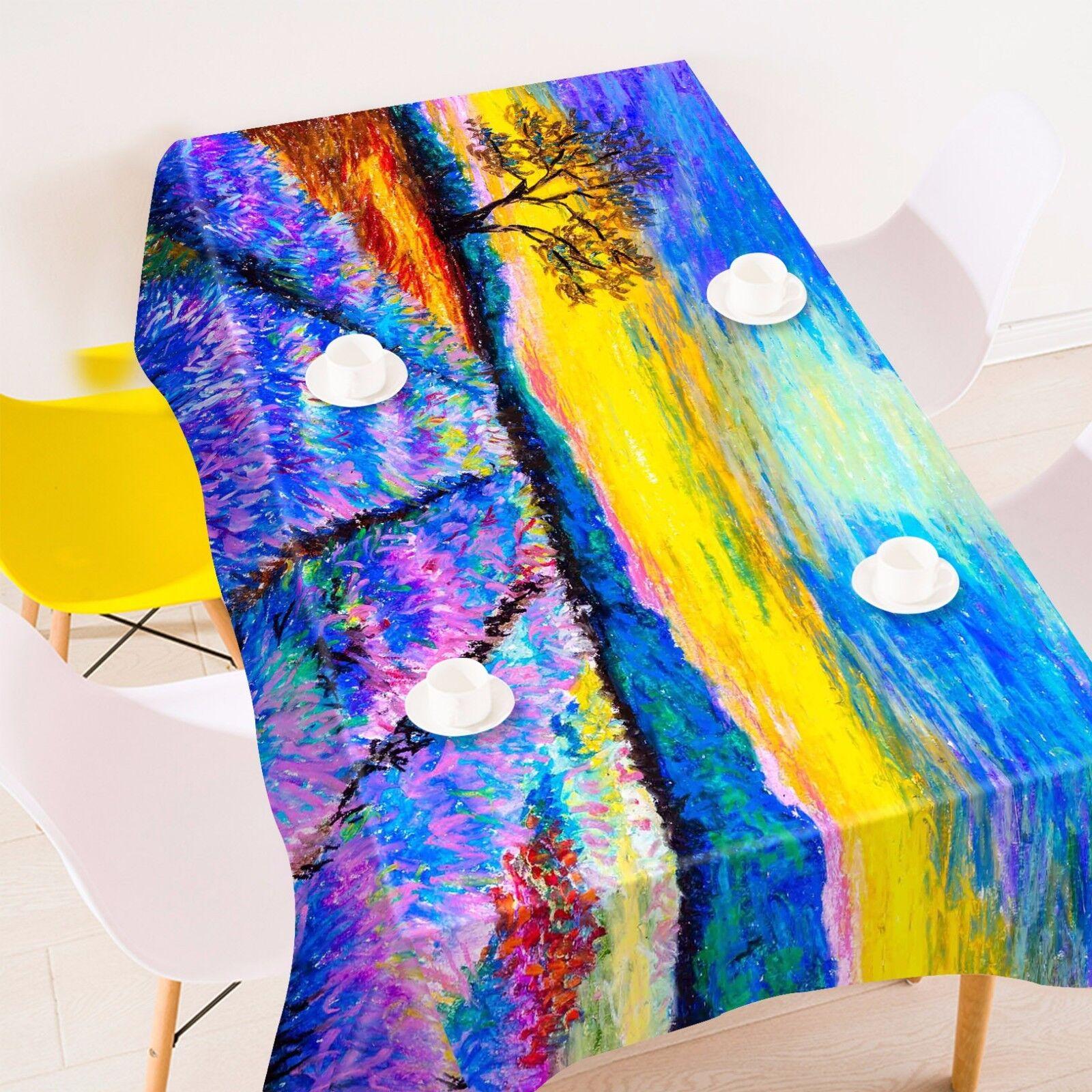 3D Paint 49 Tablecloth Table Cover Cloth Birthday Party AJ WALLPAPER UK Lemon