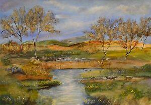 Original-acrylique-peinture-de-paysage