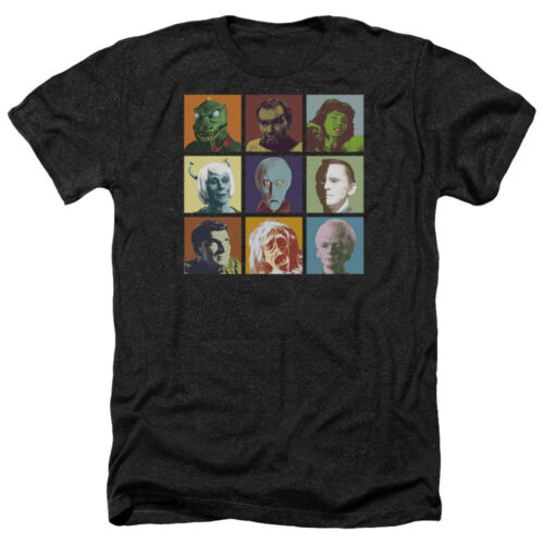 Star Trek Original Series ALIENS IN SQUARES Adult Heather T-Shirt All Sizes
