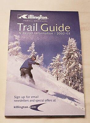 MINT NEVER USED VERMONT SKI TRAIL MAP Vintage 1986//87 KILLINGTON MOUNTAIN