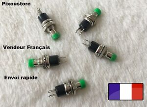 Mini-Bouton-Poussoir-Interrupteur-vert-NO-Pour-Voiture-maquette-Lot-a-choix-7-13
