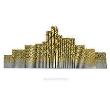 99Pc Titanium Coated HSS High Speed Steel Drill Bit Set Wood Metal Tool 1.5 hv2n