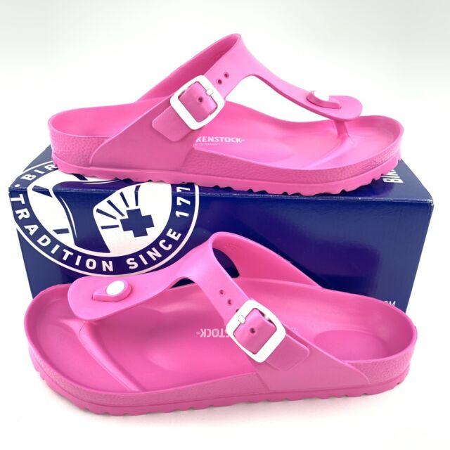 Birkenstock Gizeh EVA Women's Sandals Neon Pink Thong Brand New 0128341