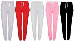 Nouveau-Haut-Femmes-Decontracte-Jersey-Pantalon-De-Jogging-Filles-Lounge-Gym-Sports-Pantalons