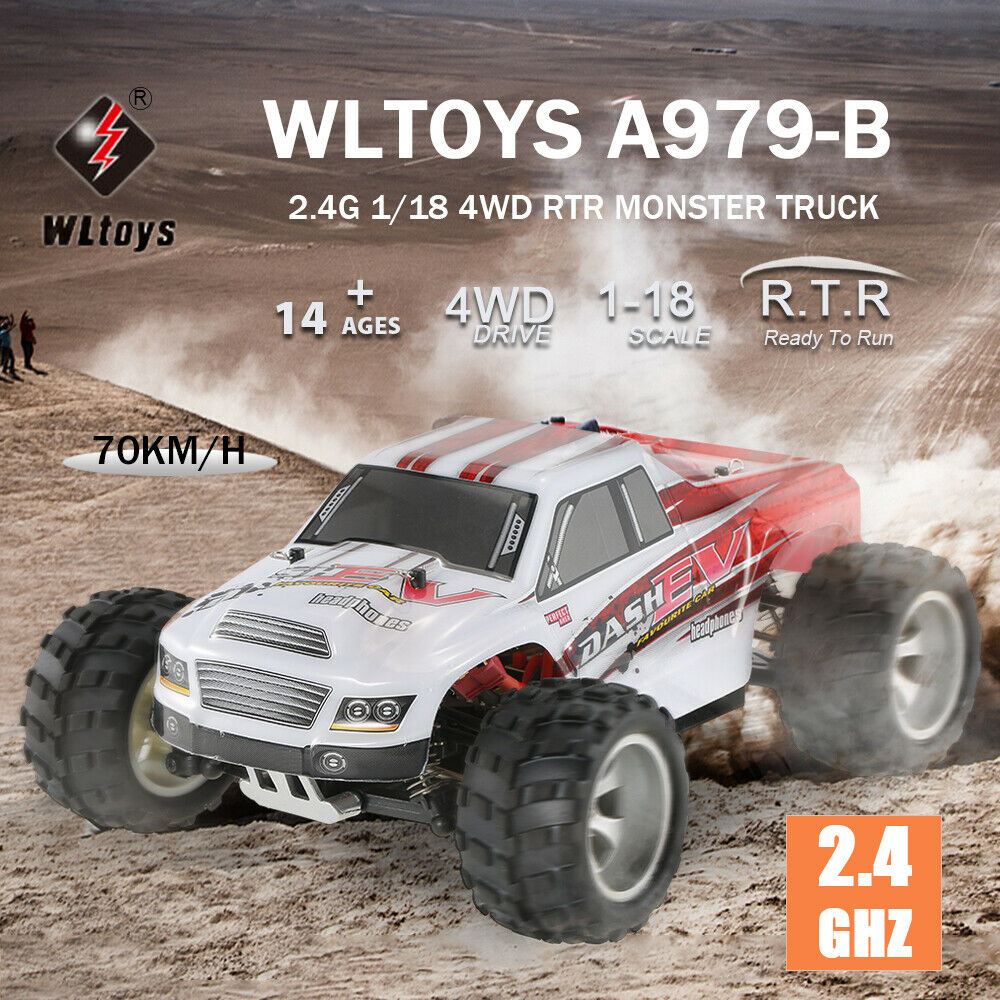 WLtoys a979-b 2.4g 1/18 grandi piedi CAMION 4wd 70km/h Highspeed Electric RTR RC Auto