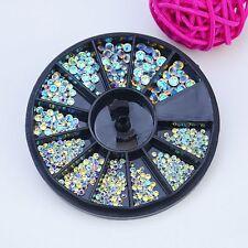 Round Mix Size Manicure Glitter Nail Art Tips 3D AB Rhinestone Crystal