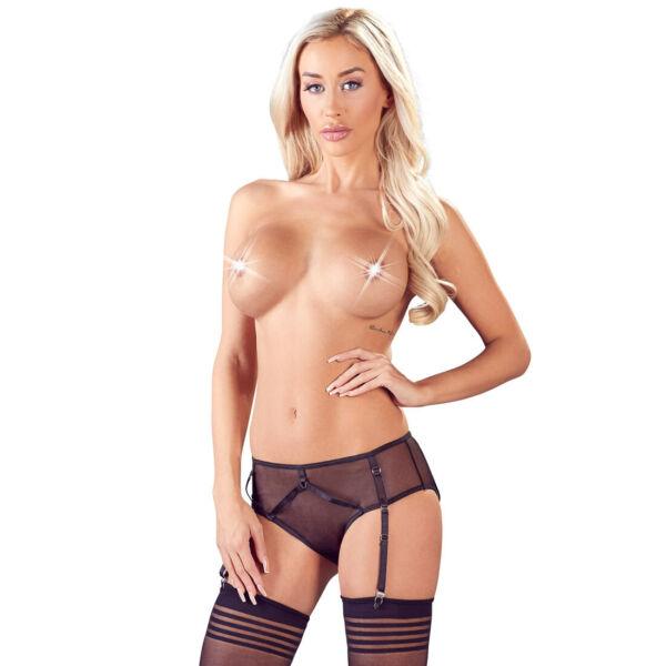 "Sexy Straps-Slip S M L XL Strümpfe Abnehmbar Durchsichtig Erotik Dessous ""Adina"""