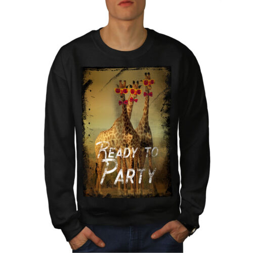 shirt Giraffe Noir Sweat Homme Time Nouveau Party wiTlOPXukZ