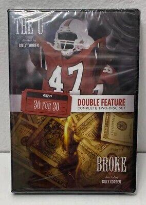 ESPN Films 30 for 30 Double Feature: Broke/The U (DVD ...