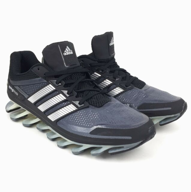 New Adidas Springblade Men s Running Shoes Black Grey Many Sizes 10.5 11.5  12 a505b7838e5