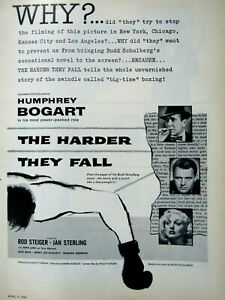 Humphrey-Bogart-Rod-Steiger-1956-Harder-They-Fall-Original-Print-Ad-8-5-x-11-034