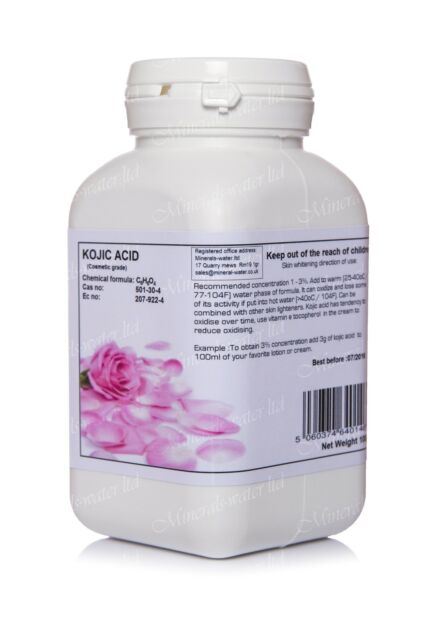 100g Kojic acid cosmetic grade/last for over 3000ml of cream/pure product