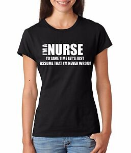 Nurse-T-shirt-Gift-For-Nurse-Women-039-s-T-shirt-RN-Funny-Ladies-T-shirt-Nurse-Tee
