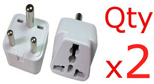 Image Is Loading 2pk American European To Indian Adapter Plug Charger